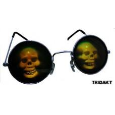 Brýle s hologramem - lebka